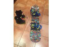 Childrens Burton Snowboard and Burton Boots