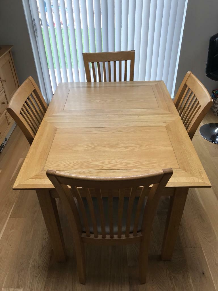 Oak Dining Table And Chairs John Lewis In Cupar Fife