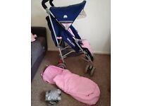 MACLAREN TECHNO XLR Stroller Navy/Pink