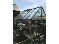 12ft x 8ft greenhouse with benches