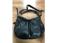 OiOi baby changing bag black faux lizard slouch extendable excellent condition