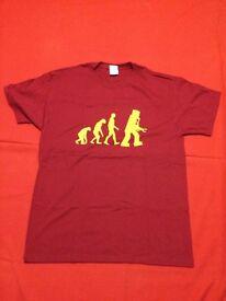 New Men the Big Bang Theory T-Shirt size L Red