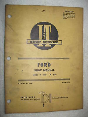 It Ford Series 8000 9000 Tractor Shop Service Manual