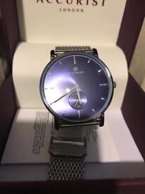 Men's blue face accurist watch