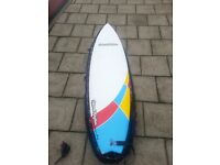 """6""""10 Fish surfboard - Natural Rhythms - Wave Hog (included with granite reef bag and leash)"""