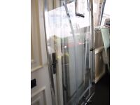 Sliding Door & Side Panel For Shower Cubicle ( 1200mm x 900mm ) *RRP; £240. Our Price; £75!!
