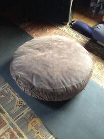 John Rocha Suede Floor Cushions x 2.