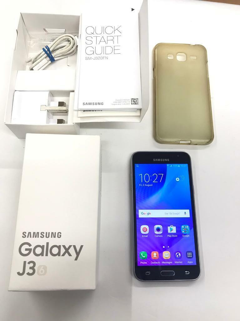 Samsung Galaxy J3 2016 Unlocked Black Box and case | in Peterborough,  Cambridgeshire | Gumtree