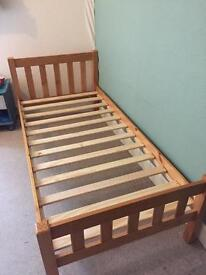 3ft wooden single bed