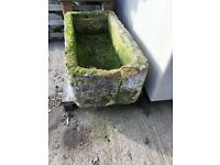 Reclaimed Old Stone Trough