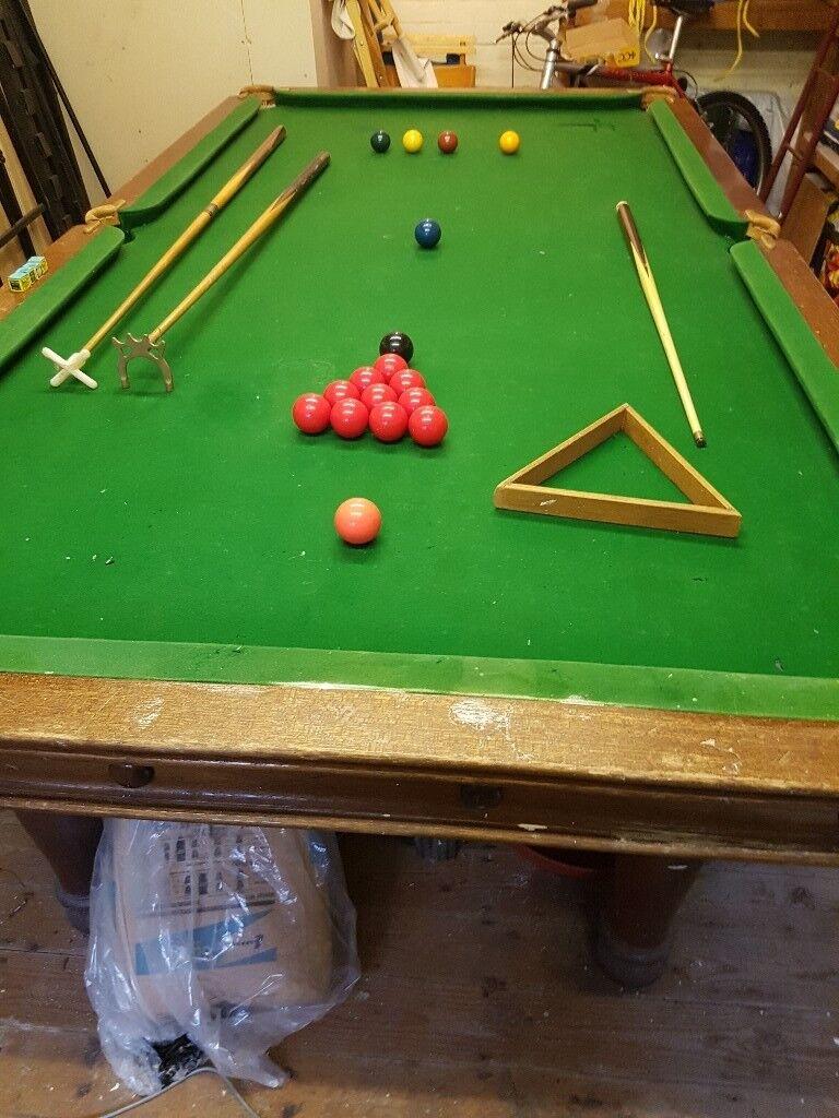 Slate Bed Snooker Pool Table For Sale Plus Accessories X - Pool table slate repair