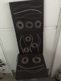 3 brown wall decorations