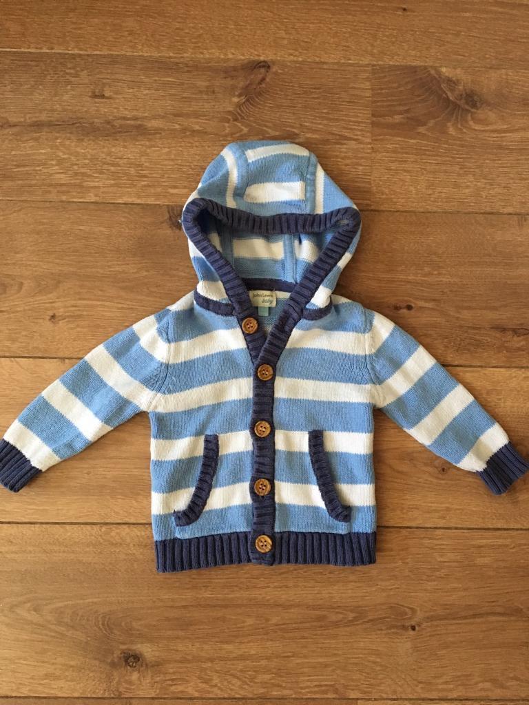 John Lewis boy hoodie newborn