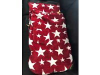 Buggy snuggle , (red white stars)