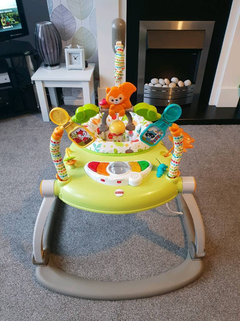a45c93078001 Fisher Price Woodlands Friends Spacesaver Jumperoo