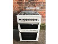 White flavel gas cooker 60cm
