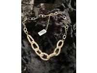 Woman costume chain necklace jewellery snake love glass real gems with sterling silver 925 vale