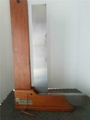 Vintage Brown Sharpe Master Precision Machinist Square 18 In Wood Stand