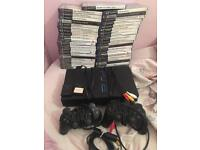 Ps2 console bundle with 42 games open to offers