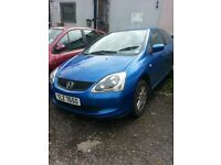 2005 HONDA CIVIC 1.7 CTDI DIESEL BREAKING FOR PARTS