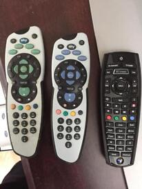 TV & Sky Controllers
