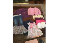 Girls clothes, coats & snowsuit bundle age 3-6 months
