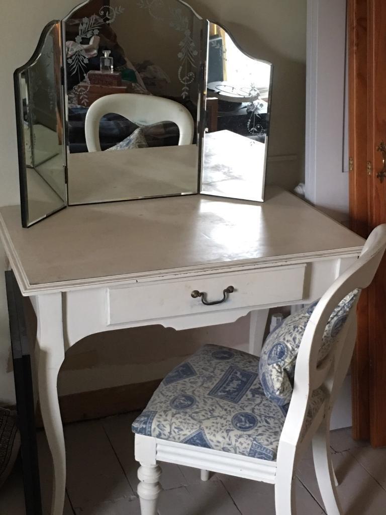 Dressing table, mirror & chair