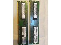 Crucial ddr2 ram 1gb x2 total 2gb