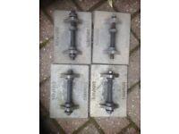 Set of 4 metal caravan corner steady pads
