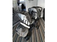 Graco double buggy for baby and toddler