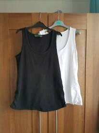 2 maternity vest tops