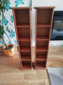 Two Pine DVD / Book Stands - £10 the pair