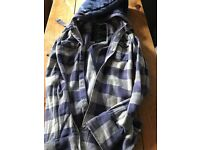 Ladies Superdry Lumberjack Blue Jacket Size Small