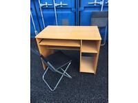 Desk on wheels plus chair