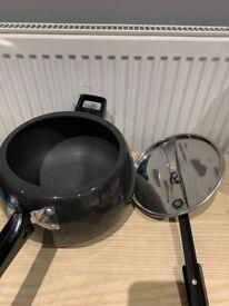 Hawkins Contura Black 5L XT induction base Pressure Cooker