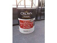 Crown trade gloss white