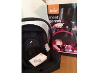 Joie Baby Infant Car Seat and Joie Carrycot, Both Complete and in Like New Condition