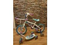 Frozen 14inch girls bike and scooter