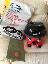 Henry Hoover Vacuum Cleaner. New Pipes, Hose Etc.