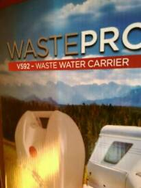 Waste water and fresh water carrier for caravan