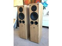 150W Eltax Symphony 6.2 Floor Standing Speakers with bi-wire cables for sale collection only.