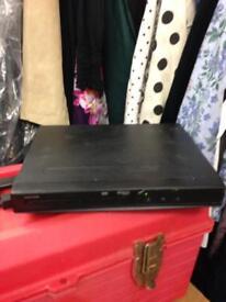 Black Dolby Digital Tescos DVD player eletrical device