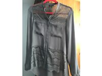 Taupe women's blouse . Uk size12