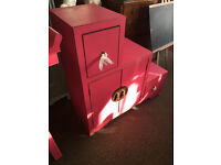 Attractive Brand New Nanjing Step Storage Cabinet - Aged Pink