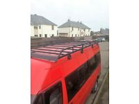 Rhino Roof Rack for medium roof, long wheel-base Transit. Brand new. Xlnt condition.