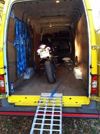 24/7 Van Man Services - Crawley and Horsham based - Motorbikes - Single items - Multi drop -