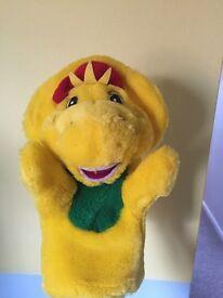 "BJ from Barney Dinosaur 9"" Yellow Hand Puppet"