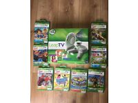 Leap TV Leapfrog - games video console + 8 games