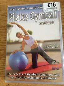 Reduced...PILATES GYMBALL WORKOUT DVD (never used)