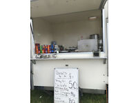 ATERING TRAILER USED FOR DONUTS ,DRINKS,SOUP ECT REGULAR SUNDAY SPOT ONE OWNER FROM NEW